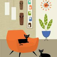 Tikis on the Wall Art Prints & Posters by Donna Mibus