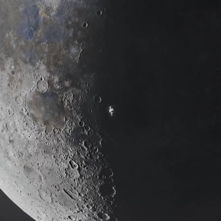 A Waning ISS Transit up close