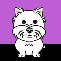 Cartoon West Highland White Terrier Art Prints & Posters by Pixel Paint Studio