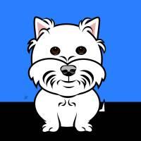 Cartoon West Higland White Terrier Art Prints & Posters by Pixel Paint Studio