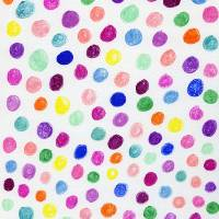 Colorful Ink Circle Pattern Art Prints & Posters by Valerie Waters