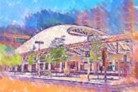 Denver Transit Center In Pastel by Kirt Tisdale