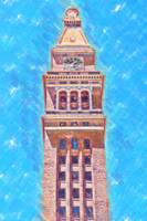 D&F Tower In Pastel Chalk by Kirt Tisdale