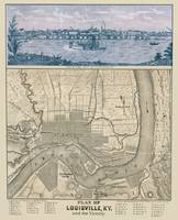 Louisville Kentucky and Vicinity map 1870