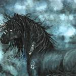 Blue Night Horse Prints & Posters