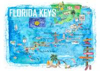 Florida Keys Key West Marathon Key Largo Illustrat