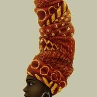 wrap queen portrait Art Prints & Posters by Shakira Rivers