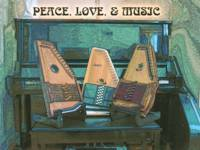 Three Autoharps Peace Love Music