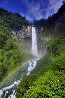 Kegon Falls With Rainbow, in Summer