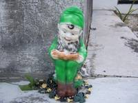 Irish cemetery memory with leprechaun