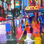 Forty Second Street Rain - New York City by RD Riccoboni