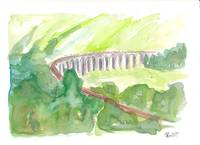 Glenfinnan_Viaduct _West_Highland_Line_in_all_Gree
