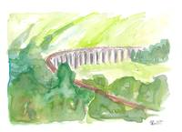 Glenfinnan Viaduct  West Highland Line in all Gree