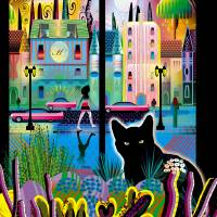 Cat Moon Do Art Prints & Posters by Charles Harker