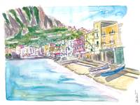 Marina Grande Capri quiet Morning With Boats And W