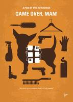 No1241 My Game Over Man minimal movie poster