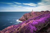 Lighthouse in the Mediterranean Coast - Infrared -