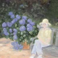 Grandma in her Garden by Sandy Mauck