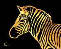 Zebra | Gold Series | Pop Art
