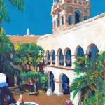 Balboa Park House of Hospitality Courtyard by RD Riccoboni