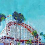 Rollercoaster Belmont Park San Diego  by RD Riccoboni