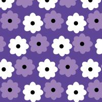 Purple and White Flower Pattern Art Prints & Posters by Valerie Waters