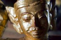 Close-up of a wooden statue