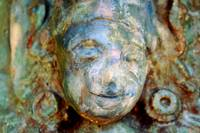 Statue close-up ceramic