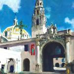 Gate To The Park Balboa Park San Diego California by RD Riccoboni