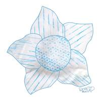 teal turquoise flower with variegated petals
