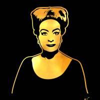 Joan Crawford | Gold Series | Pop Art Art Prints & Posters by William Cuccio