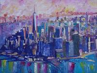 Downtown Manhattan Skyline in Morning Light With J