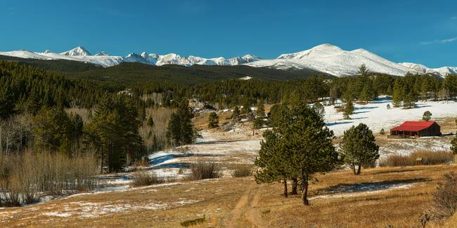 Rocky Mountain Continental Divide Above Jamestown