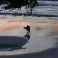 Sunset on the beach by Sandy Mauck