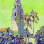 Balboa Park Chartreuse - California Tower by RD Riccoboni