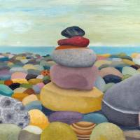 Stacking Stones Art Prints & Posters by Michelle Calkins