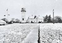 Chatham Lighthouse in Snow