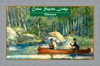 Minnesota Cedar Rapids Lodge Travel Poster Canoein