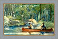 Wisconsin Dells travel poster canoeing fishing
