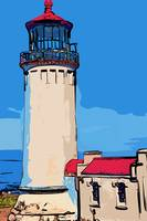 North Head Lighthouse in Abstract by Kirt Tisdale