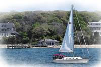 Sailboat In New England by Kirt Tisdale