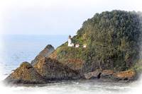 Heceda Head Lighthouse Sketched by Kirt Tisdale