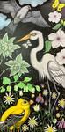 Goldfinch Egret Kite by Ann Huey