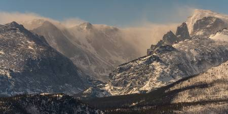 Blowing Snow on the Rocky Mountain Continental Div