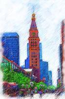 D&F Tower On The Denver 16th Street Mall by Kirt Tisdale