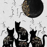 Shadowing moon Art Prints & Posters by Sharon Sims