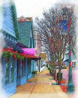 Christmas Village Shops by Kirt Tisdale