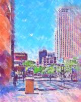Denver 16th Street Mall In Pastel by Kirt Tisdale