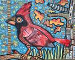 Cardinal in the Trees by Ann Huey