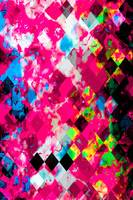 geometric square pixel pattern abstract in pink bl